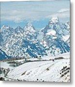 Snowy Tetons Metal Print