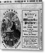 Soap Advertisement, C1866 Metal Print