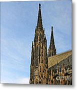 Soaring Spires Saint Vitus' Cathedral Prague Metal Print by Christine Till