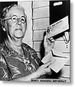 Social Security, 1940 Metal Print