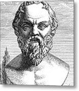 Socrates, Ancient Greek Philosopher Metal Print by