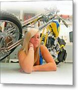 Soft N Sweet Harley Chopper  Metal Print