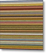 Soft Stripes L Metal Print