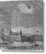Solar Eclipse, 1858 Metal Print