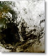 Solar Eclipse Over Southeast Asia Metal Print