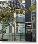Solar-powered Street Light In Daejeon Metal Print by Mark Williamson