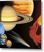 Solar System, Artwork Metal Print