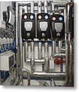 Solar Thermal Heating System Metal Print