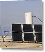 Solar Water Heater Metal Print