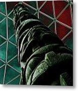 Solarised Totem Pole Metal Print