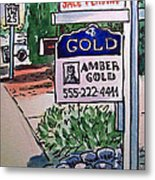 Sold Sketchbook Project Down My Street Metal Print