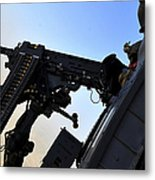Soldier Mans The .50 Caliber Machine Metal Print