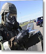Soldier Uses An M256 Kit To Identify Metal Print