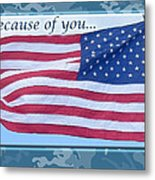 Soldier Veteran Thank You Metal Print