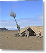 Soldiers Execute A High Angle Fire Metal Print