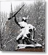 Soldiers In The Snow Metal Print