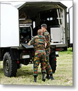 Soldiers Of An Infantry Section Metal Print