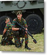 Soldiers Of An Infantry Unit Metal Print by Luc De Jaeger