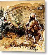 Soldiers On The Wall Metal Print