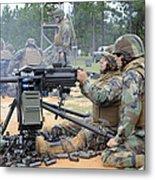 Soldiers Operate A Mk-19 Grenade Metal Print by Stocktrek Images