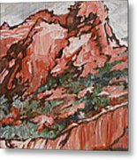 Soldiers Pass Trail Metal Print by Sandy Tracey