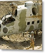 Soldiers Place Tnt Charges Metal Print