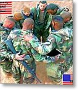 soldiers Praying Metal Print