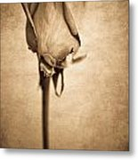 Solitaire Rose 2.0 Metal Print