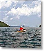 Solitary Man In Kayak Metal Print