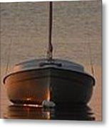 Solitary Sailboat Metal Print