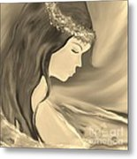 Solitude     Black And White Metal Print