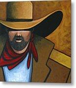 Solo Cowboy Metal Print