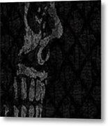 Sombre Skull Metal Print
