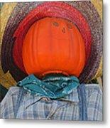 Sombrero Scarecrow Metal Print