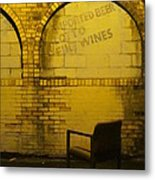 Someplace To Sit In The Alley Metal Print