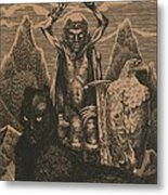 Songs Of The Last Gods Metal Print by Sirenko