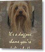 Sorry You're Sick Greeting Card - Cute Doggie Metal Print