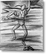 S.o.s. Sinking Or Swimming Metal Print