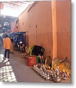 Souk In Marrakesh 04 Metal Print