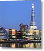 South Bank Of The River Thames, London Metal Print