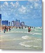 South Beach Metal Print by Dieter  Lesche