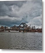 South Buffalo Rail Bridge Metal Print