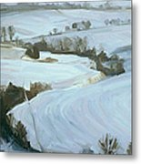 South Limburg Covered With Snow Metal Print