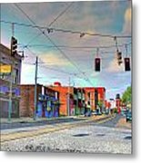 South Main Street Memphis Metal Print