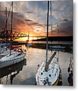 South Queensferry Harbour Metal Print