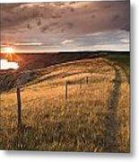 South Saskatchewan River Near Leader Metal Print