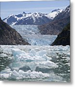 South Sawyer Glacier And Bay Full Metal Print