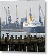 Southampton Old Pier And Docks Metal Print by Jane Rix