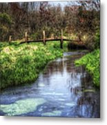 Southards Pond In Spring Metal Print by Vicki Jauron