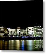 Southbank London At Night Metal Print
